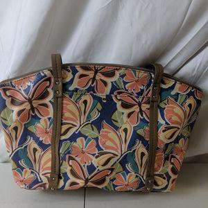 Relic handbag blue with butterflies